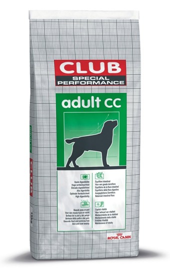 Vente en ligne de CROQUETTES CHIEN Club Special Performance Adult CC 15 Kg - Royal Canin 0