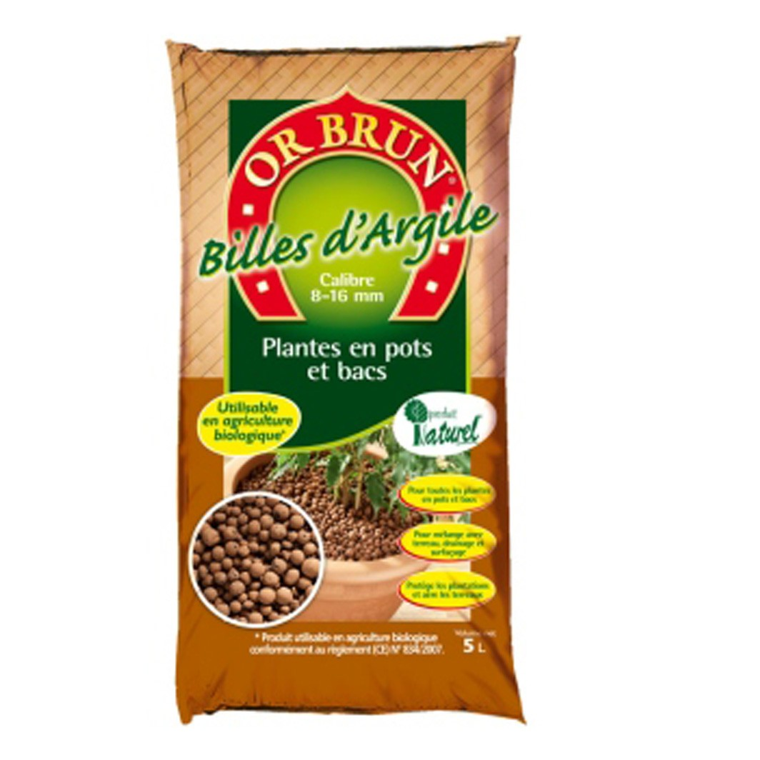 Achat Bille d'argile 50 litres - Or Brun
